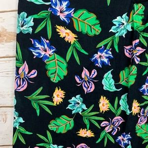 Cynthia Rowley Tops - Cynthia Rowley Black Floral Casual Career Top L
